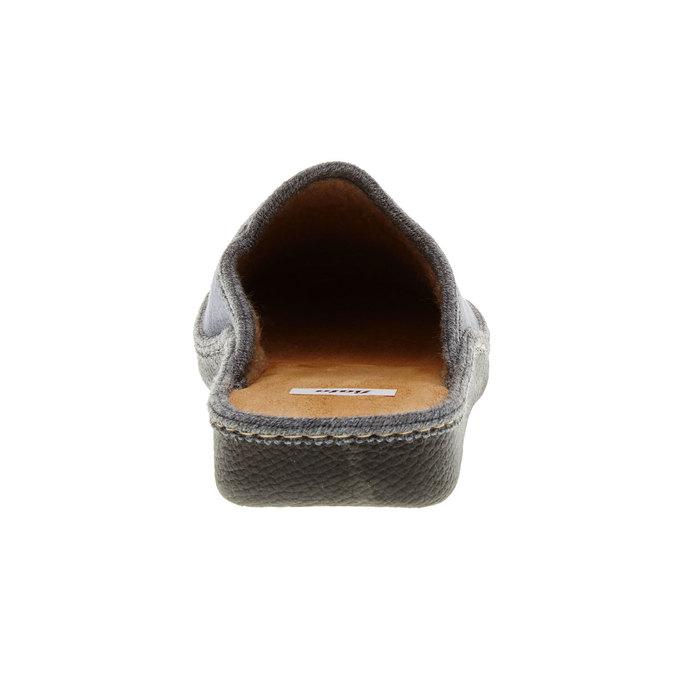 Pánská domácí obuv bata, šedá, 879-2165 - 17