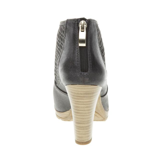 Kotníčkové kozačky na podpatku bata, černá, 691-6106 - 17