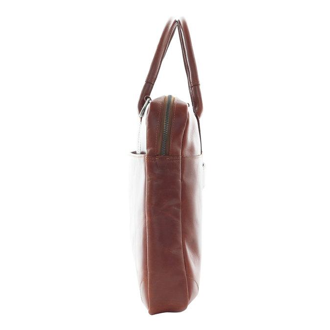 Kožená taška s popruhem royal-republiq, hnědá, 964-4199 - 17