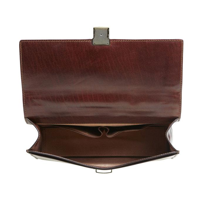 Pánská kožená taška elega, hnědá, 964-4155 - 15