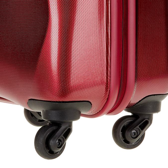 Skořepinový kufr na kolečkách carlton, červená, 960-5100 - 19