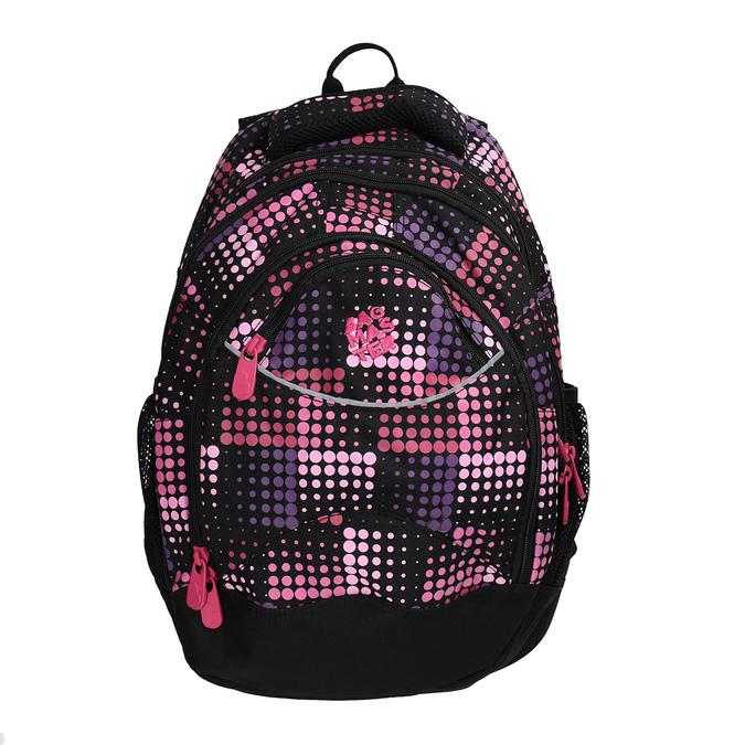 Dívčí školní batoh s puntíky bagmaster, růžová, 969-5601 - 19