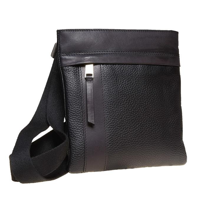 Kožená pánská Crossbody taška bata, černá, 964-6131 - 13