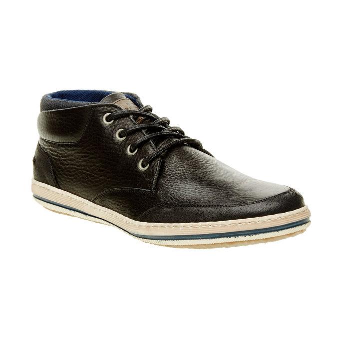 Kožené tenisky ke kotníkům bata, černá, 844-6620 - 13