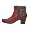 Dámská kotníčková obuv se zateplením bata, červená, 696-5617 - 26