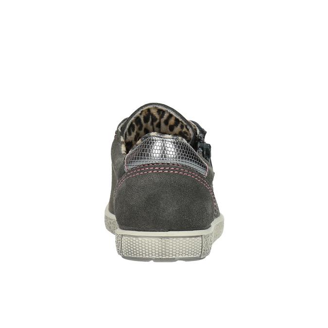 Dětské kožené tenisky mini-b, šedá, 323-2170 - 17