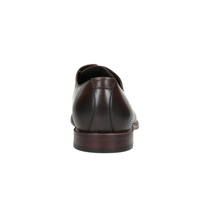 Kožené hnědé polobotky bata, hnědá, 824-4684 - 17