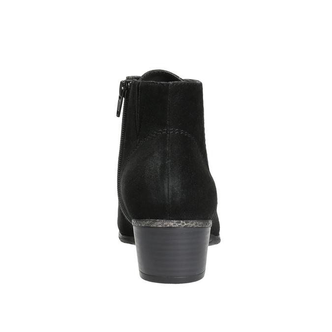 Dámská kotníčková obuv bata, černá, 693-6601 - 17