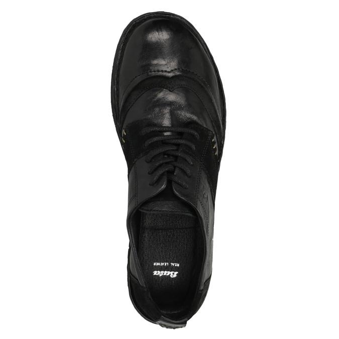 Dámské kožené tenisky bata, černá, 526-6601 - 19