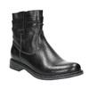 Dámská kožená kotníčková obuv bata, černá, 594-6611 - 13