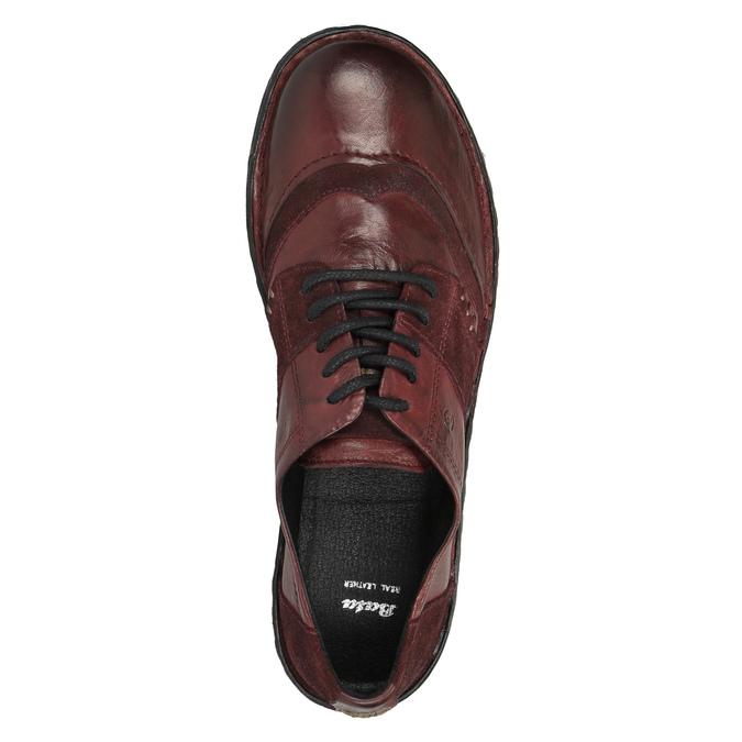 Dámská kožená obuv bata, červená, 526-5601 - 19
