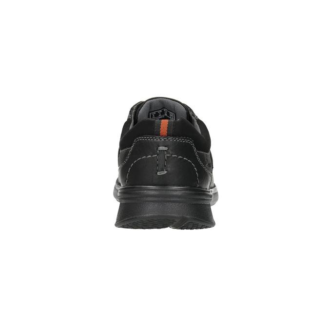 Ležérní kožené polobotky clarks, černá, 826-6002 - 17