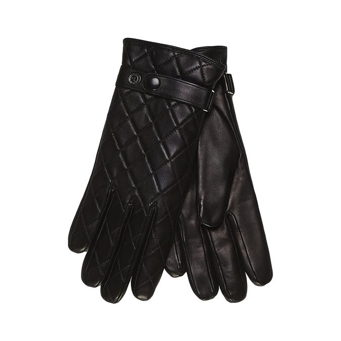 Kožené rukavice s prošitím junek, černá, 924-6028 - 13