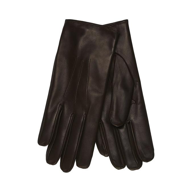 Pánské kožené rukavice junek, hnědá, 924-4029 - 13