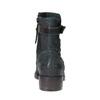Kožená kotníčková obuv se stříbrnými detaily bata, tyrkysová, 596-9614 - 17