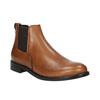 Dámské kožené Chelsea boots bata, hnědá, 594-3902 - 13
