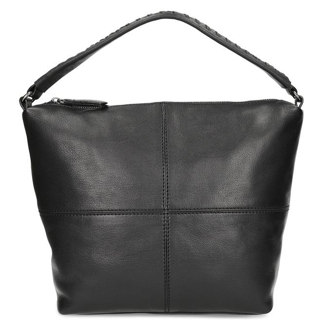 Kožená kabelka s odnímatelným popruhem bata, černá, 964-6233 - 26