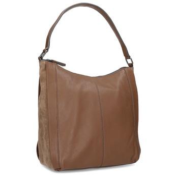 Hnědá kožená kabelka bata, hnědá, 964-3254 - 13