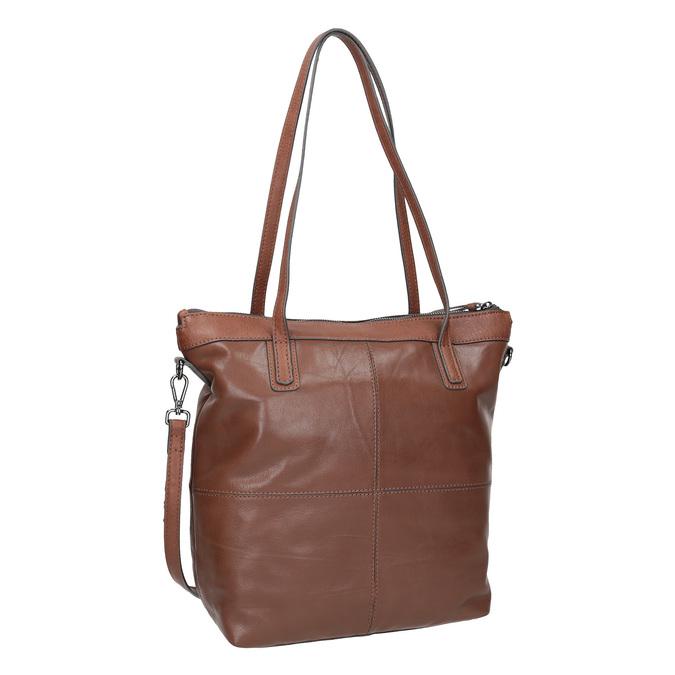 Hnědá kožená kabelka bata, hnědá, 964-3234 - 13