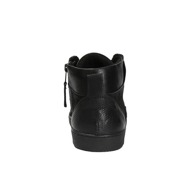 Kožená kotníčková obuv pánská bata, černá, 846-6602 - 17