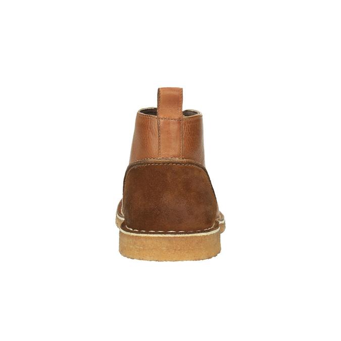 Kožené Chukka Boots bata, hnědá, 824-3665 - 17
