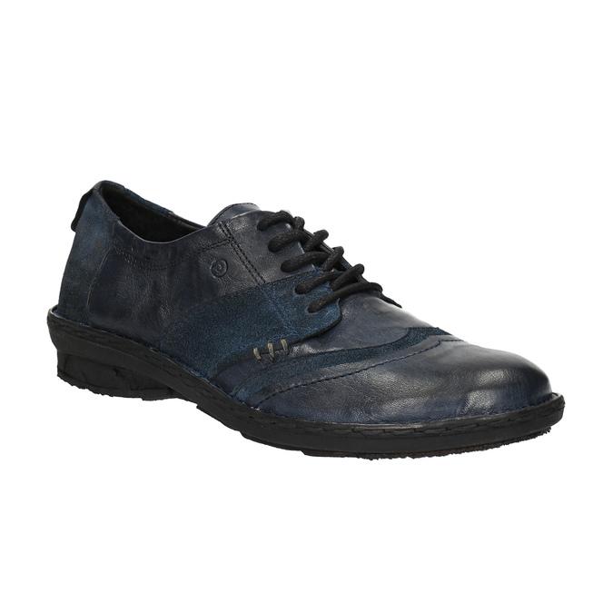Dámské kožené tenisky bata, modrá, 526-9601 - 13