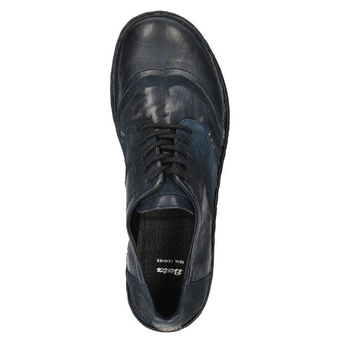 Dámské kožené tenisky bata, modrá, 526-9601 - 19