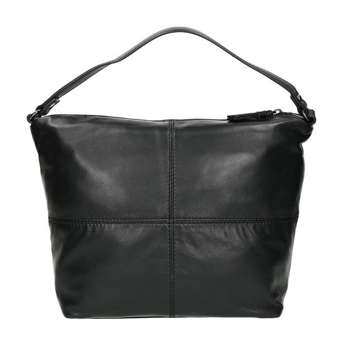 Kožená kabelka s odnímatelným popruhem bata, černá, 964-6233 - 19