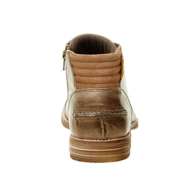 Kožená kotníčková obuv pánská bata, hnědá, 894-2620 - 17