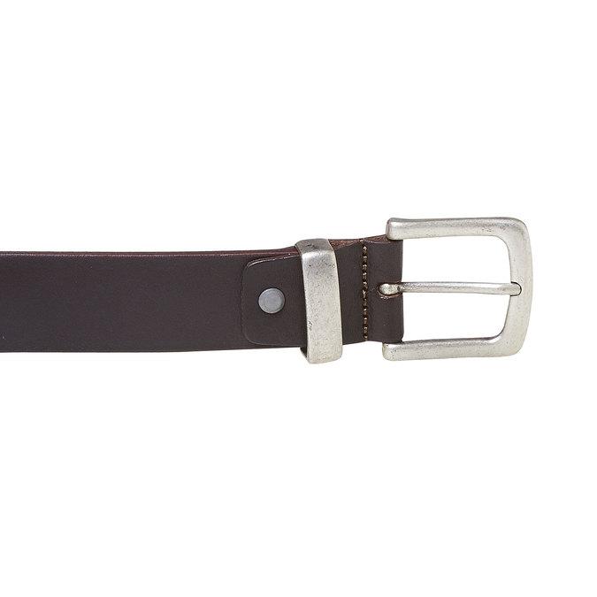 Pánský kožený opasek hnědý bata, hnědá, 954-4162 - 26