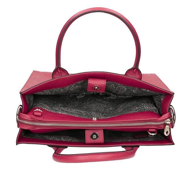 Kožená červená kabelka picard, růžová, 966-5011 - 15