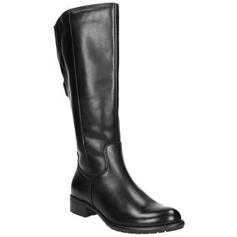 Dámské kožené kozačky černé bata, černá, 596-6604 - 13