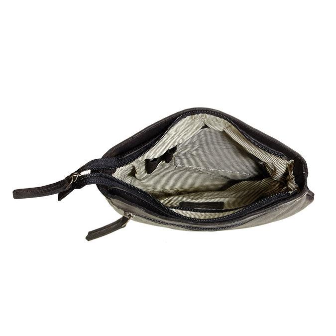 Kožená Crossbody taška bata, černá, 964-6113 - 15