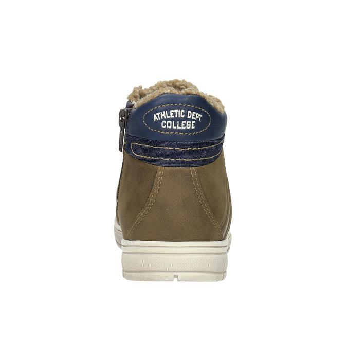 Dětské tenisky s kožíškem mini-b, hnědá, 491-4600 - 17