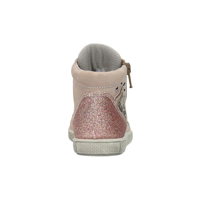 Dětské kožené tenisky nad kotníky mini-b, růžová, 323-5171 - 17