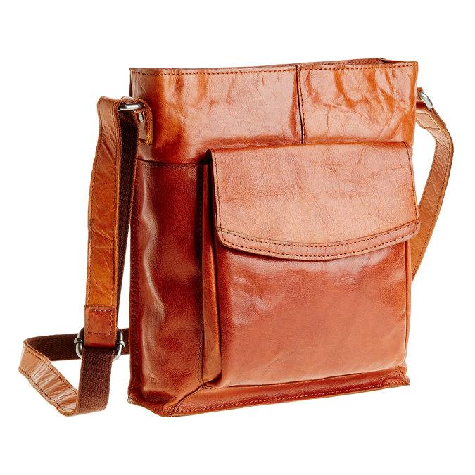 Pánská kožená  Crossbody taška bata, hnědá, 964-3141 - 13