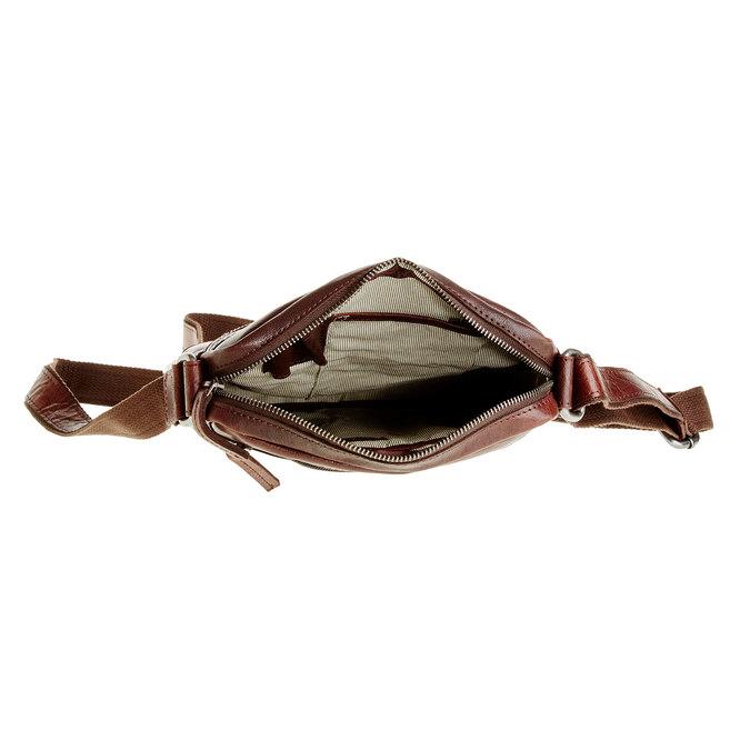Pánská kožená  Crossbody taška bata, hnědá, 964-4180 - 15