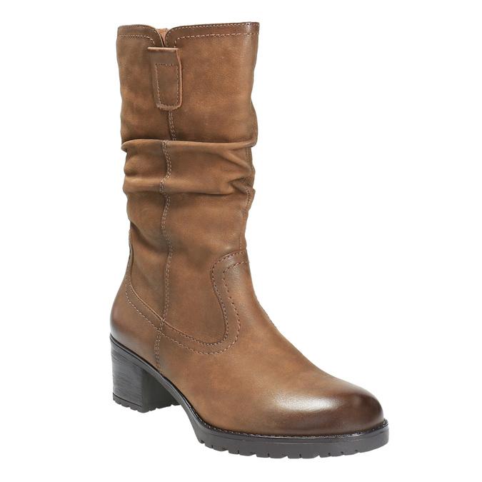 Dámská kotníčková obuv bata, hnědá, 696-3127 - 13