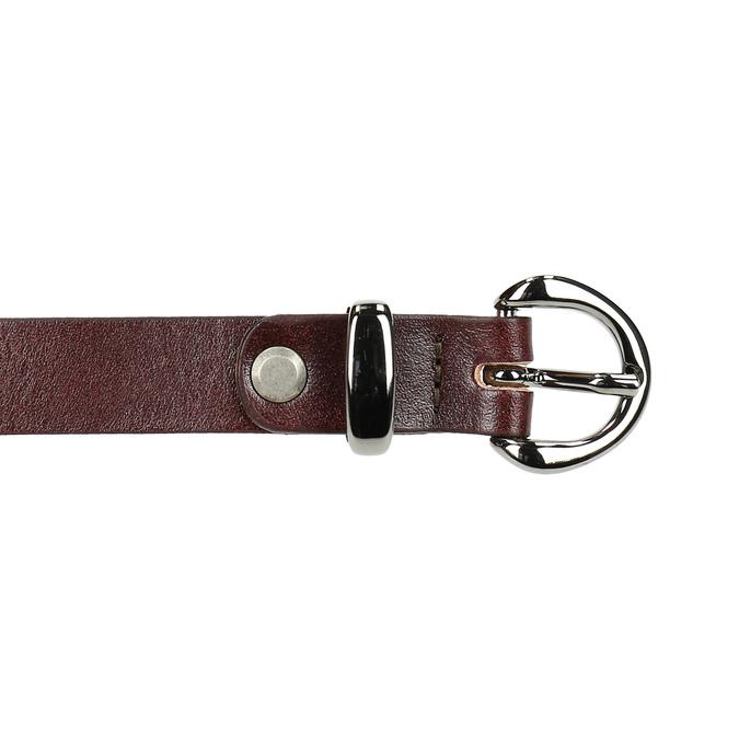 Kožený opasek s menší sponou bata, červená, 954-5100 - 26