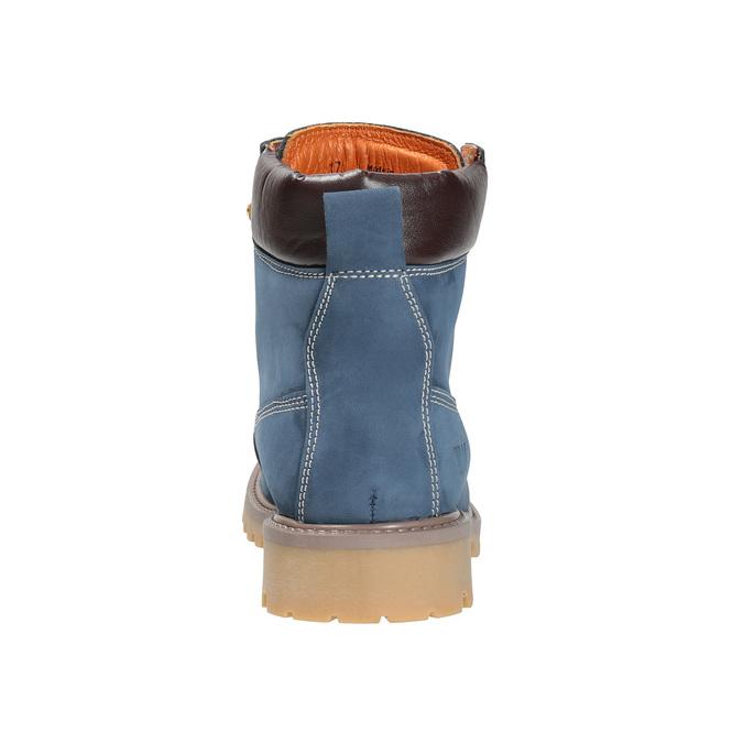 Dámská kožená obuv modrá weinbrenner, modrá, 596-9629 - 17