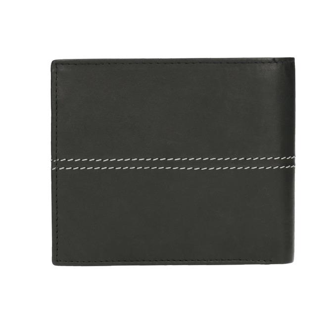 Pánská peněženka s prošíváním bata, černá, 944-6176 - 19