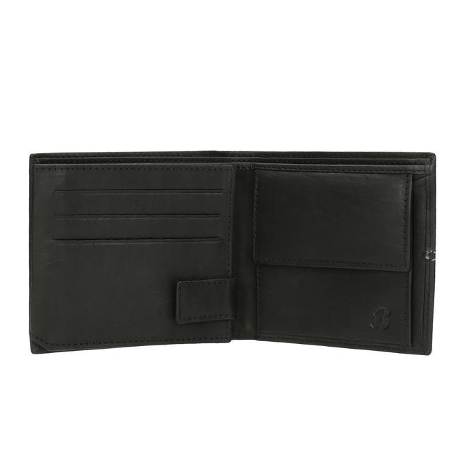 Pánská peněženka s prošíváním bata, černá, 944-6176 - 15