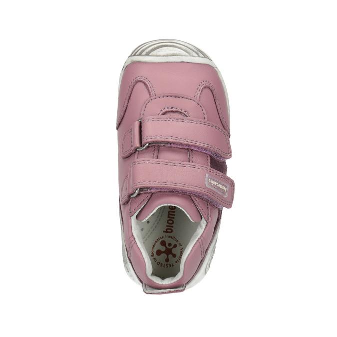 Dívčí kožená obuv na suché zipy biomecanics, růžová, 124-5006 - 19