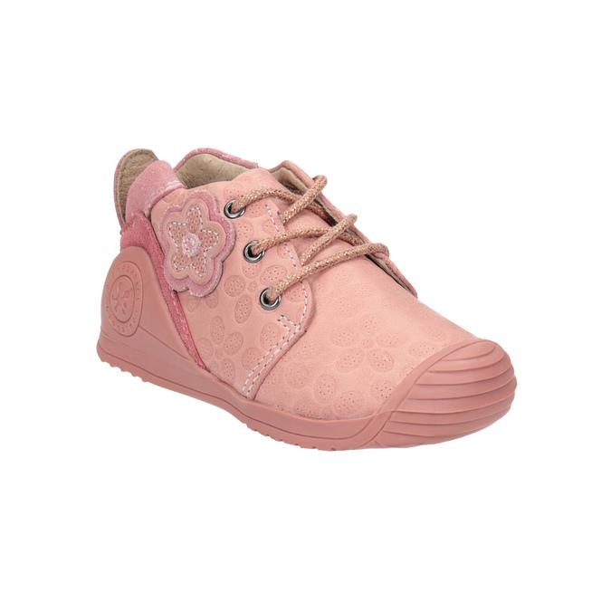 Dívčí kožená obuv růžová biomecanics, růžová, 124-5005 - 13
