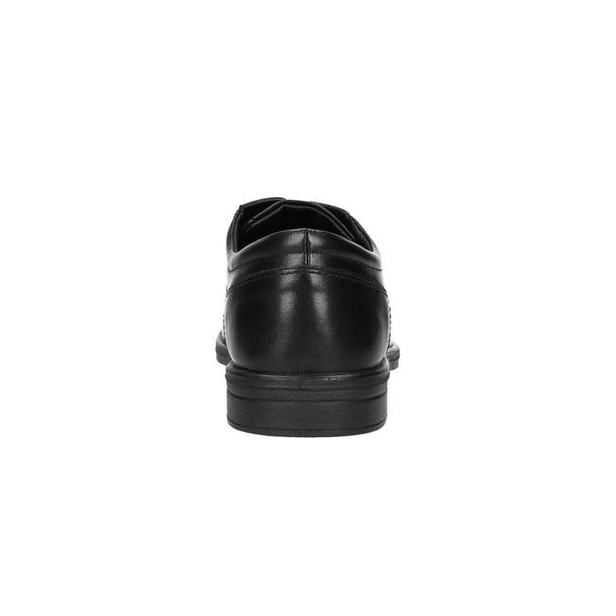 Černé kožené polobotky bata, černá, 824-6743 - 17