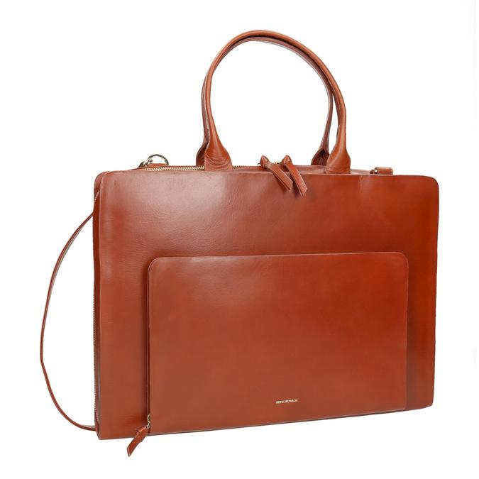 Dámská kožená kabelka royal-republiq, hnědá, 964-3002 - 13