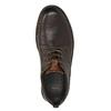 Ležérní kožené polobotky na výrazné podešvi bata, hnědá, 824-4698 - 26