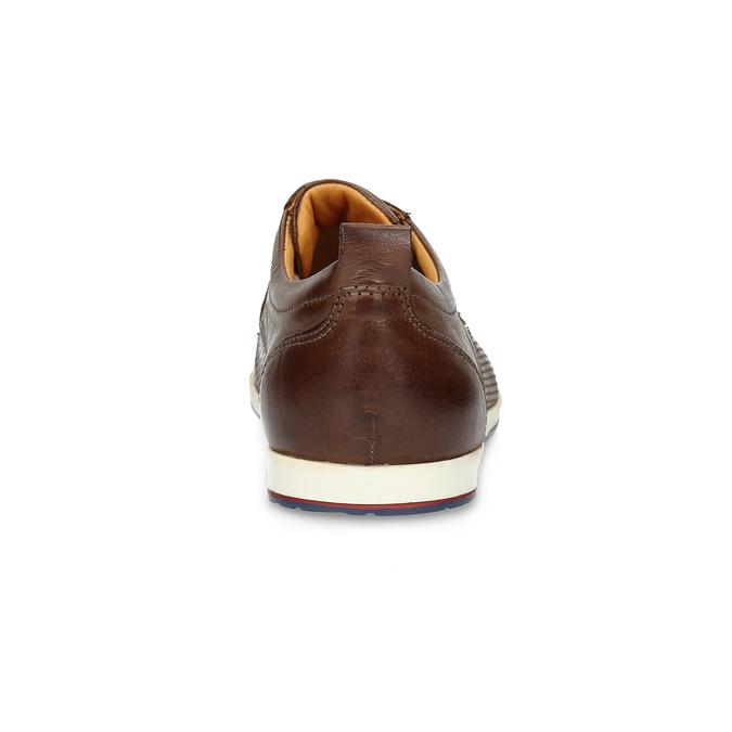 Ležérní kožené tenisky bata, hnědá, 824-4124 - 15