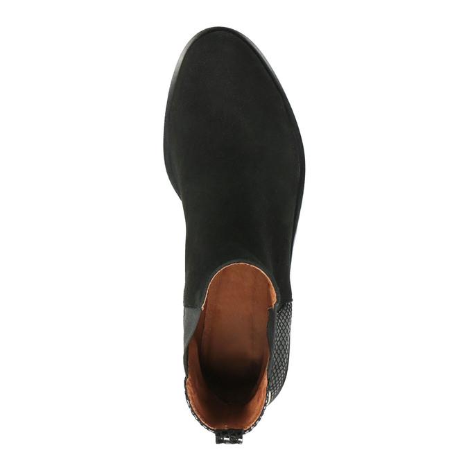 Kožená kotníčková obuv s pružnými boky bata, černá, 596-6643 - 19