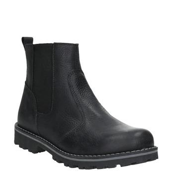 Dětská kožená obuv nad kotníky mini-b, černá, 394-6316 - 13